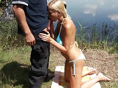 Outdoor fucked by a horny cop in insane scenes