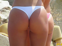 Hot Topless Amateur Teens - Voyeur Beach Photo Session