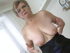 Sexy old granny playing with their way old cunt