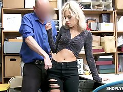 Respecting break out of the law station lusty Allie Nicole lures cop for making love