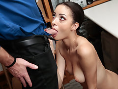 Scarlett Bloom gets pounded by Mall Officer