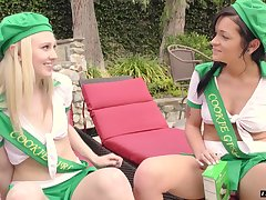 Kylie Foxx and Lily Rader offer their holes surrounding a horny fellow