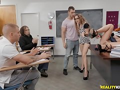 Hot sex lesson with Adriana Chechik, Kimmy Husbandman and Duncan Saint