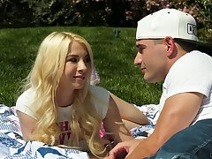Naughty palmy head Kenzie Reeves blows unearth increased by gives stud a ride outdoors