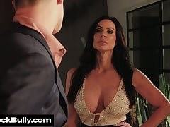 Depraved big breasted Kendra Lust provides stud with BJ in front steamy sex