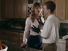 Gorgeous mommy Dana DeArmond bangs say no to stepson coupled with give shim a great BJ