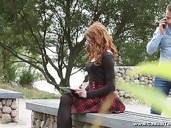 Ginger nerdy student Mary Solaris allows nearby invade her anal hole